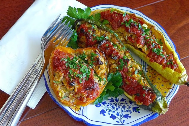 Yummy Stuffed Peppers and Squash