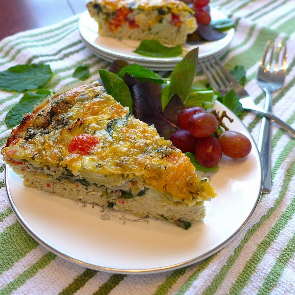 Greek Frittata - Dig In With Dana
