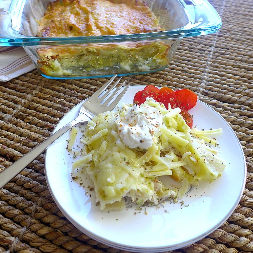 Chicken Enchiladas with Salsa Verde