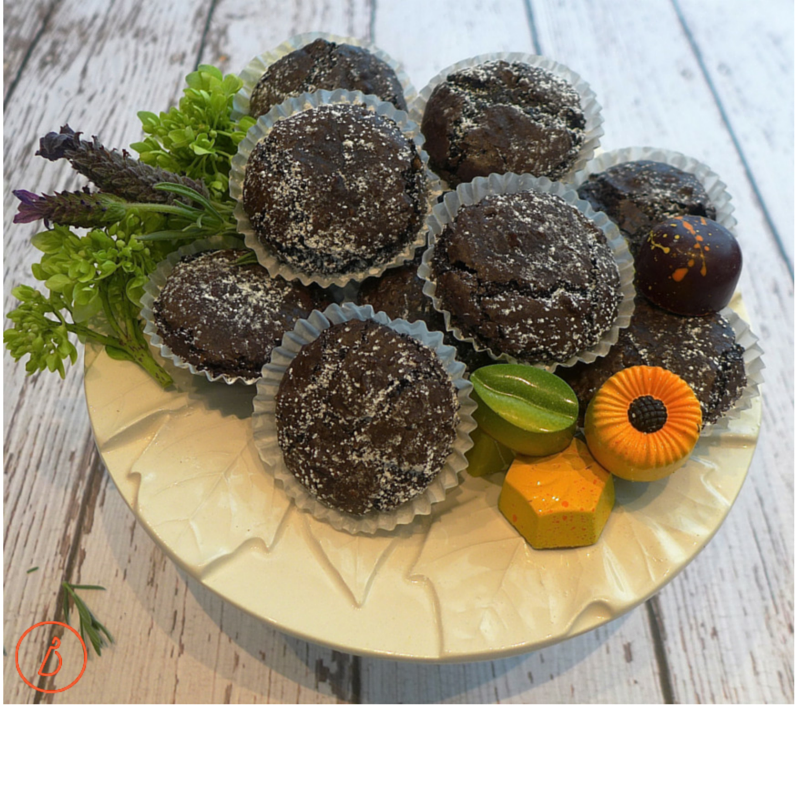 Dig in to Flourless Brownie Bites. Your new go to, easy gluten free dessert!