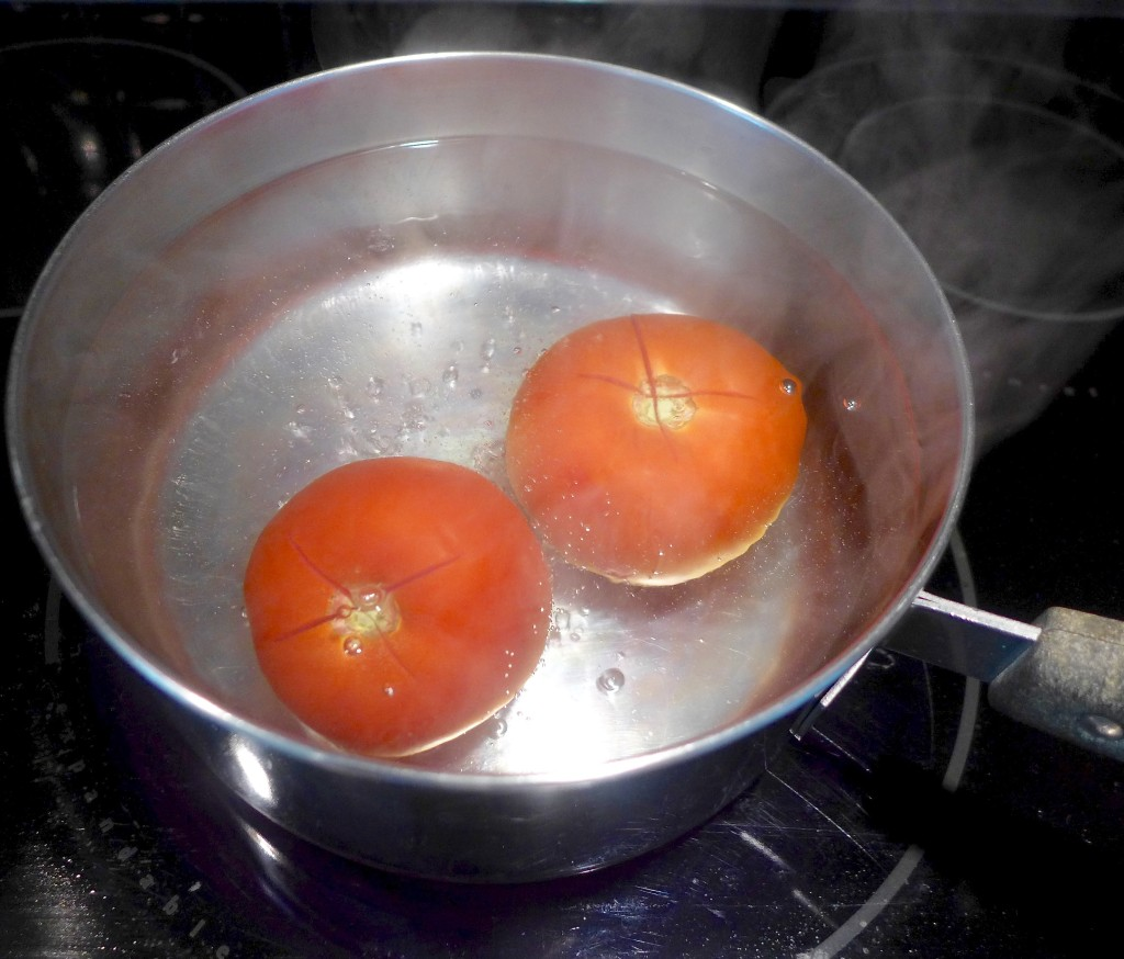 Boil for 30 seconds, then drain and run under cool water.