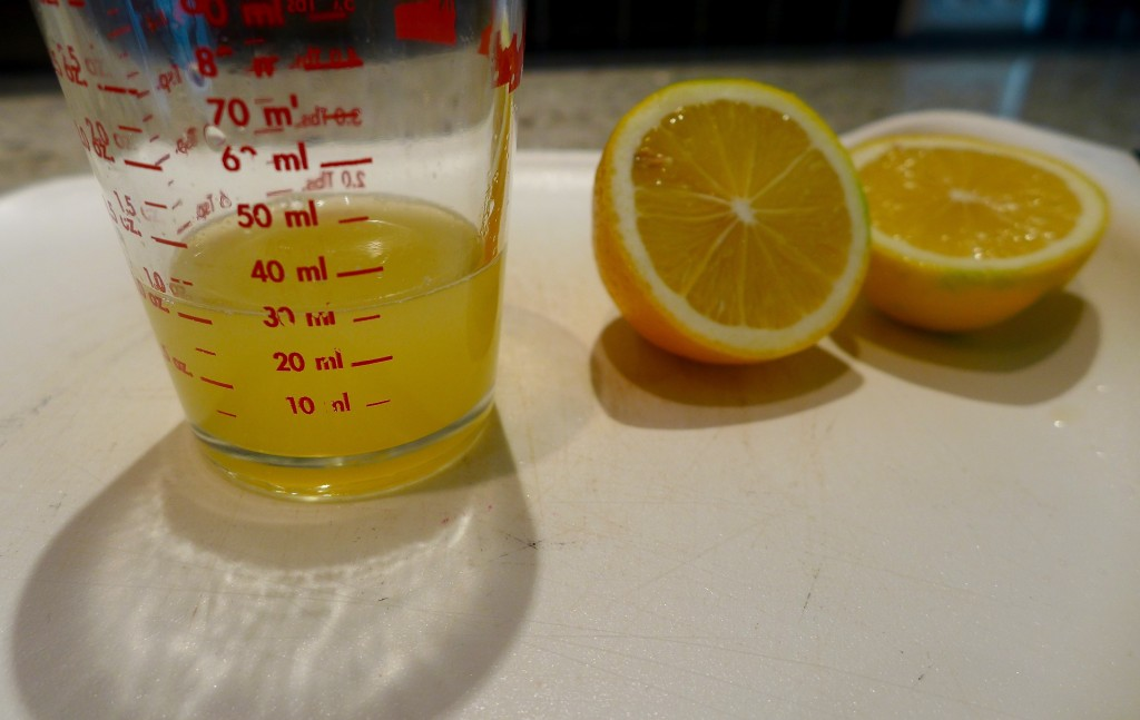 Use freshly squeezed lemon juice.
