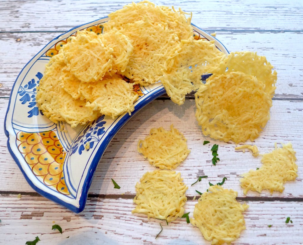 Big or small, parmesan crisps are a great snack to serve with anything, anytime.
