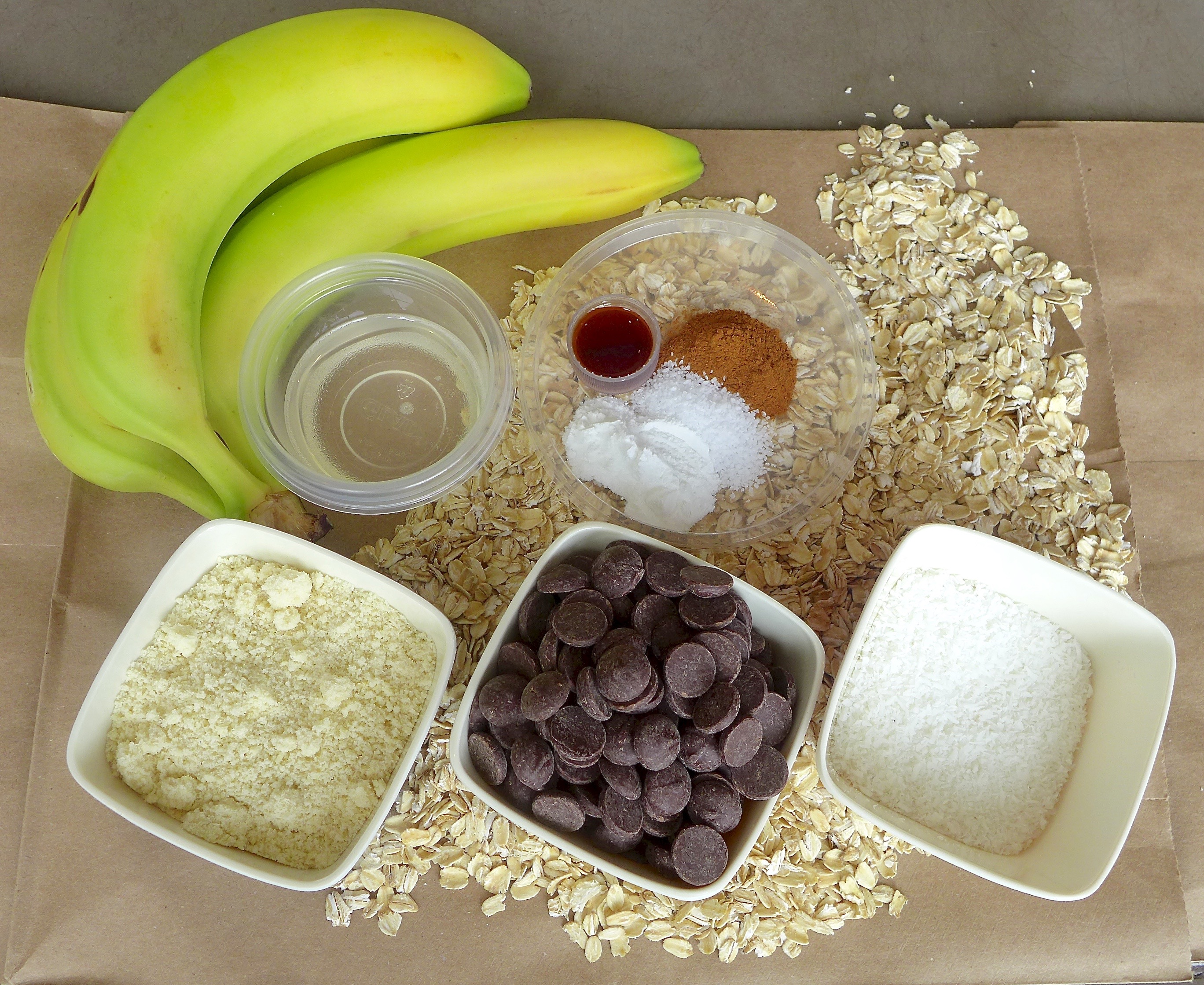 Bananas and coconut oil replace butter and eggs in this simple but delicious cookie recipe.
