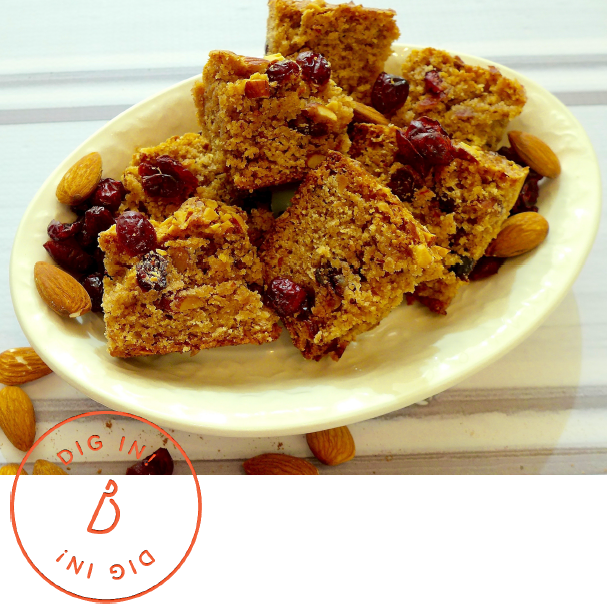 Dig in to Cranberry Almond Cake.