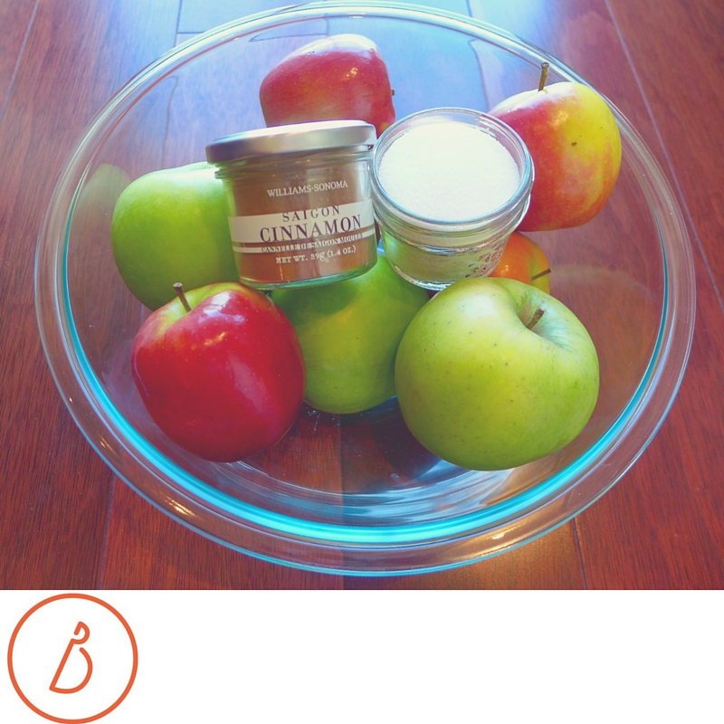 All you need to make baked apple chips