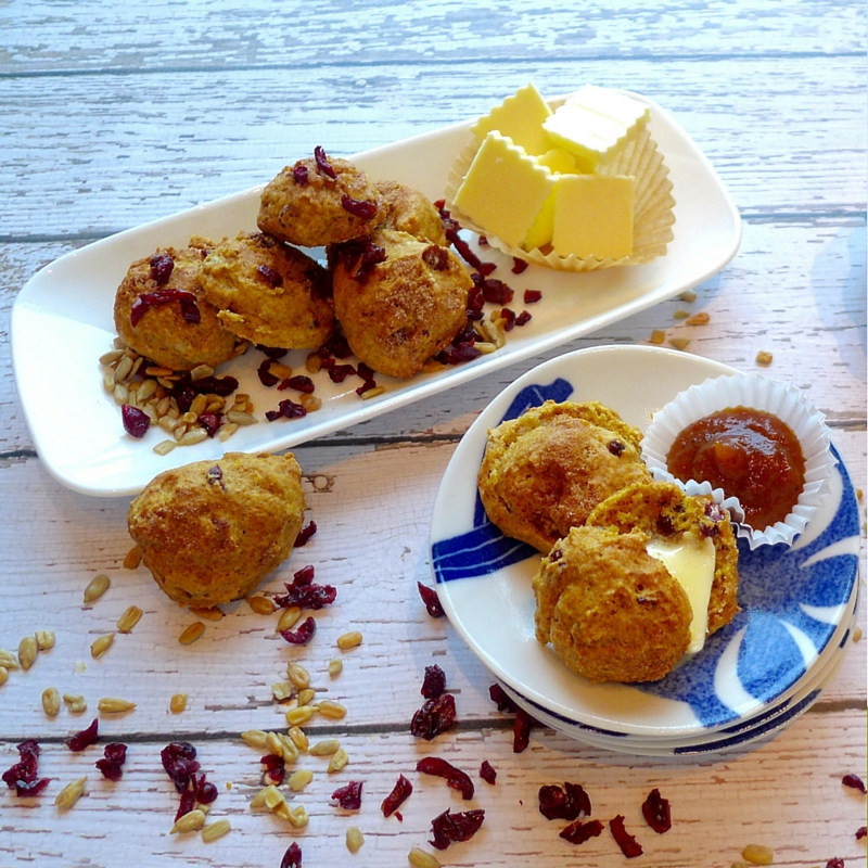 Breakfast, brunch, snack time or anytiime's a good time for a mini pumpkin spiced scone or two.