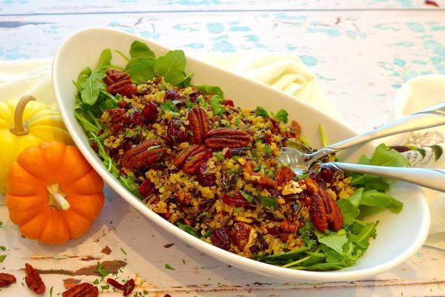 Cranberry Wild Rice Salad (Gluten Free and Vegan)
