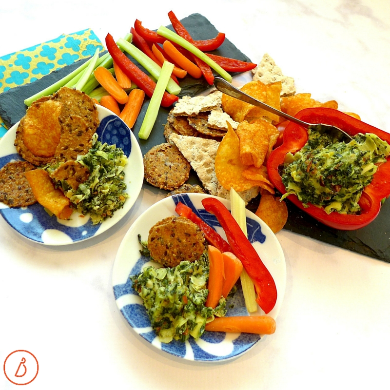 Serving suggestions for Spicy Spinach and Artichoke Dip