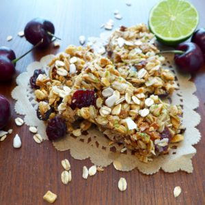 Cherry Lime Granola Bars