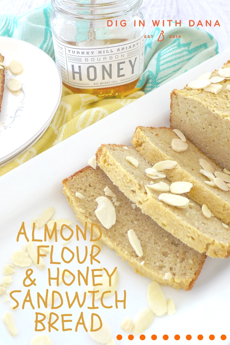 Almond Flour and Honey Sandwich Bread ( GF and Paleo) Recipe and helpful tips at diginwithdana.com