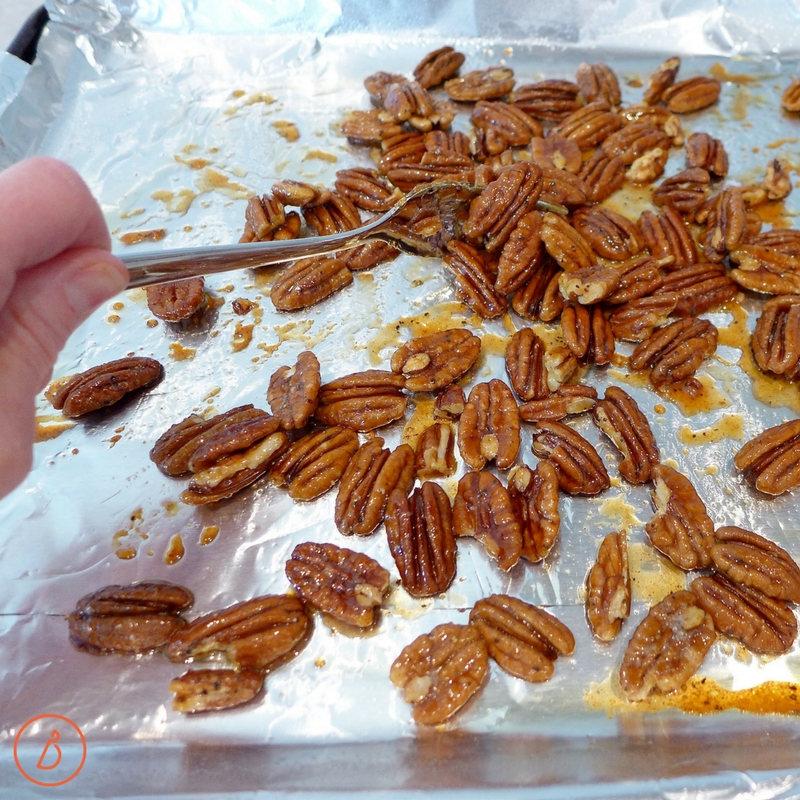 Toss to coat pecans in honey spice mixture. Sweet and spicy roasted pecans recipe and helpful photos at diginwithdana.com