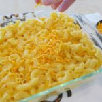 Recipe for Cheesy Baked Mac N Cheese for your next potluck or family get together at diginwithdana.com
